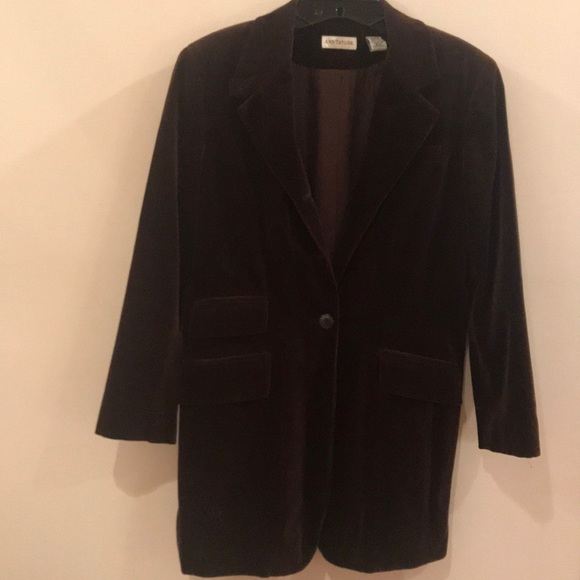 Ann Taylor Jackets & Blazers - Ann Taylor Brown Velvet Riding Jacket, Size 6